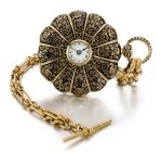 MOULINE FRÈRES | GOLD AND ENAMEL HALF-HUNTING CASED LEVER WATCH CIRCA 1840