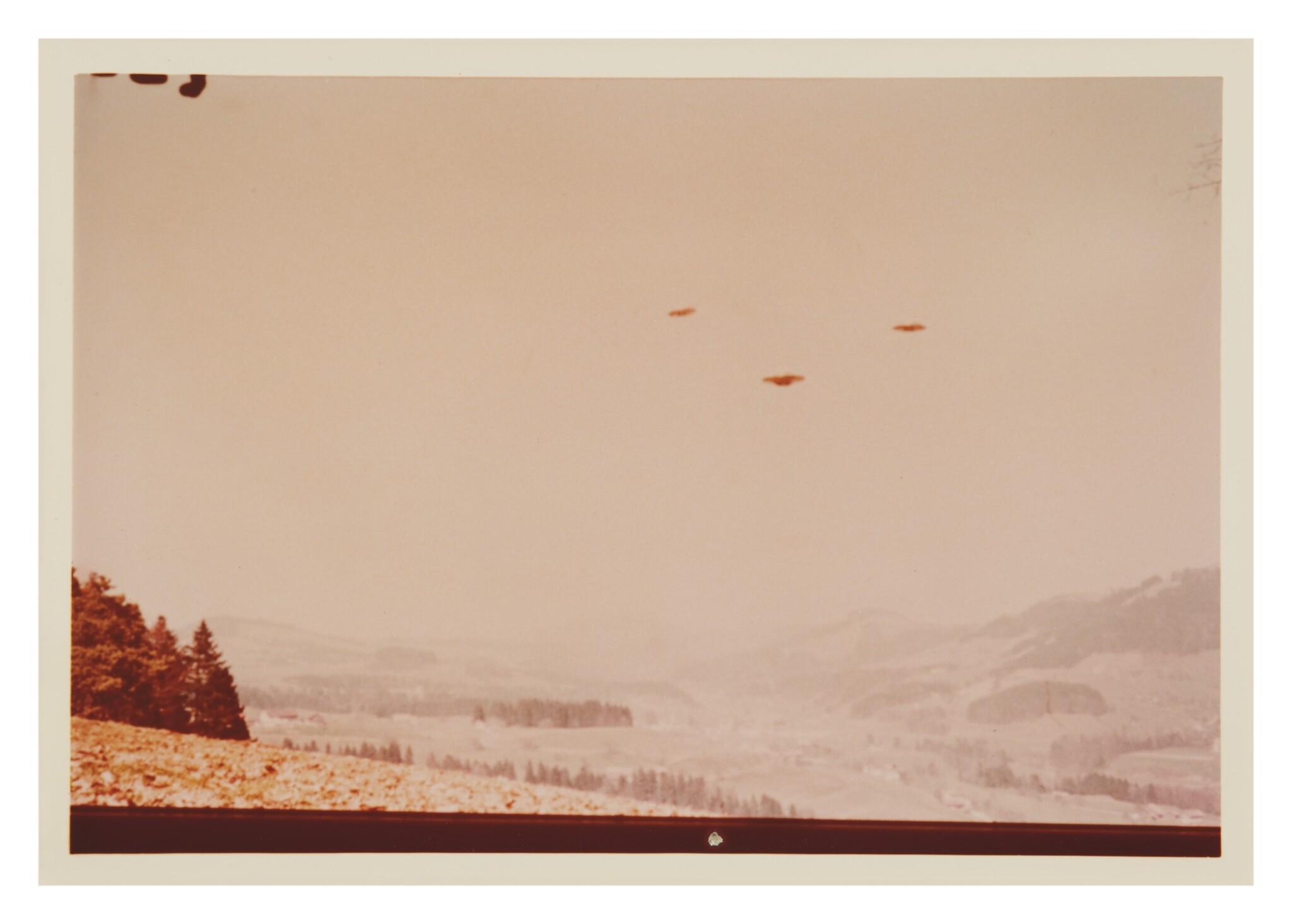 "View full screen - View 1 of Lot 213. UFO SIGHTING. 7 VINTAGE PHOTOS TAKEN BY ""BILLY"" EDUARD ALBERT MEIER IN SWITZERLAND ON 28 MARCH 1976.."
