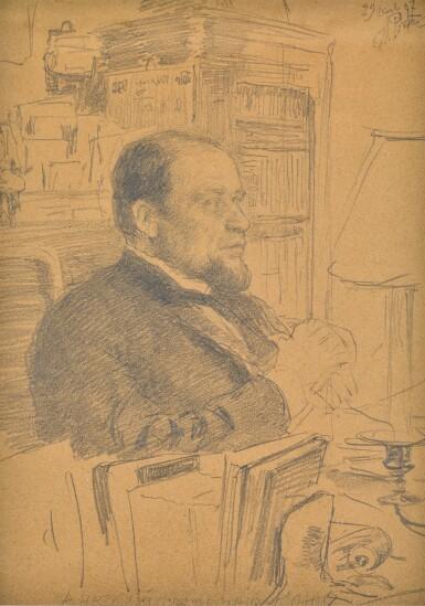 View 1. Thumbnail of Lot 28. ILYA EFIMOVICH REPIN   Portrait of Anatoly Fedorovich Koni.