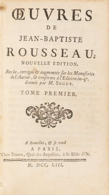 View 4. Thumbnail of Lot 92. Réunion de 2 ouvrages en 7 volumes reliés aux armes de la comtesse de Provence.