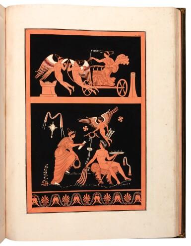 View 5. Thumbnail of Lot 48. Dubois Maisonneuve. Introduction à l'étude des vases antiques. 1817-[1834]. folio, green morocco by Selenka.