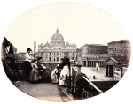 Italy and France | seven vellum bound albums of photographs, 1870s