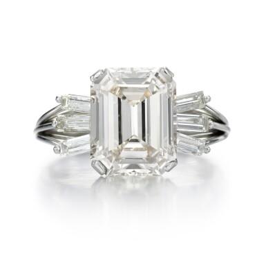 View 1. Thumbnail of Lot 98. DIAMOND RING.