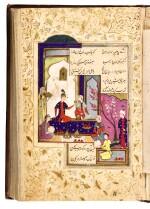 'ABDULLAH HATIFI, (D.1454 AD), TWO WORKS BOUND IN ONE VOLUME: KHOSROW WA SHIRIN AND TIMURNAMA, PERSIA, KHURASAN AND QAZWIN, SAFAVID, CIRCA 1570-80