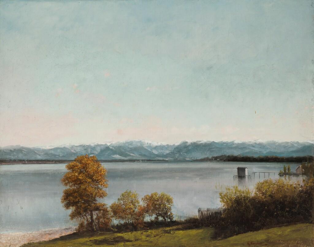 GUSTAVE COURBET | Le Lac de Starnberg,en Bavière