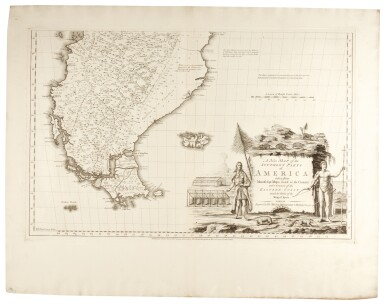 KITCHIN, THOMAS | A NEW MAP OF THE SOUTHERN PARTS OF AMERICA. 1772