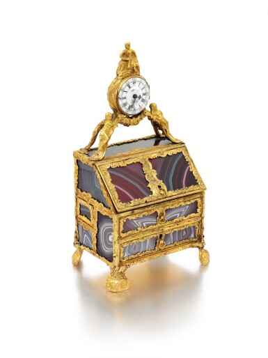 View 5. Thumbnail of Lot 7. A GOLD-MOUNTED HARDSTONE NECESSAIRE IN THE MANNER OF JAMES COX, ENGLISH, CIRCA 1770.