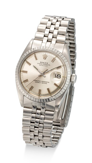 View 2. Thumbnail of Lot 8033. ROLEX | DATEJUST, REFERENCE 1603 | A STAINLESS STEEL WRISTWATCH WITH DATE AND BRACELET, CIRCA 1971 | 勞力士 | Datejust 型號1603 精鋼鏈帶腕錶,備日期顯示,約1971年製.