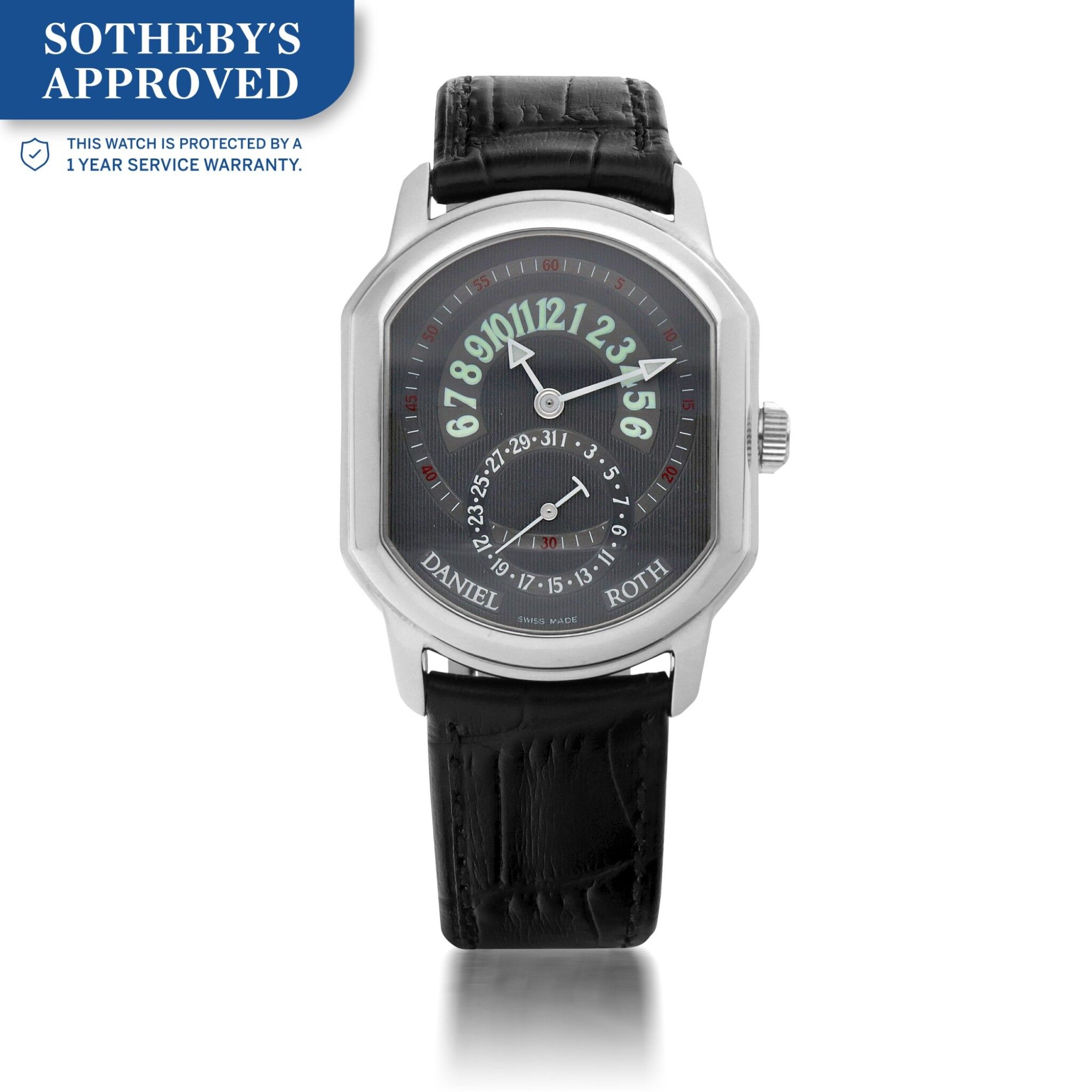 View full screen - View 1 of Lot 657. REF 807.L60  WHITE GOLD WRISTWATCH WITH DATE CIRCA 2005.
