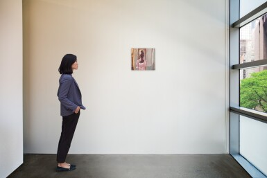 View 3. Thumbnail of Lot 7.  GENIEVE FIGGIS | LADY IN A PINK DRESS.