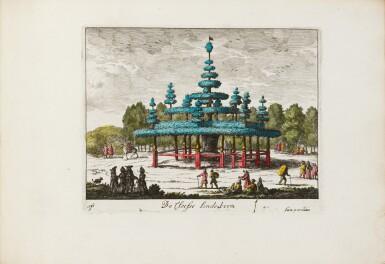 View 5. Thumbnail of Lot 47. Tooneel der Voornaamste... Amsterdam, vers 1695. Relié avec : VALK. Veues et perspectives deSoesdyck..