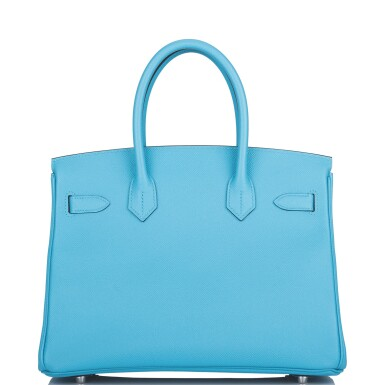 View 4. Thumbnail of Lot 63. Hermès Bleu Du Nord Birkin 30cm of Epsom Leather with Palladium Hardware.