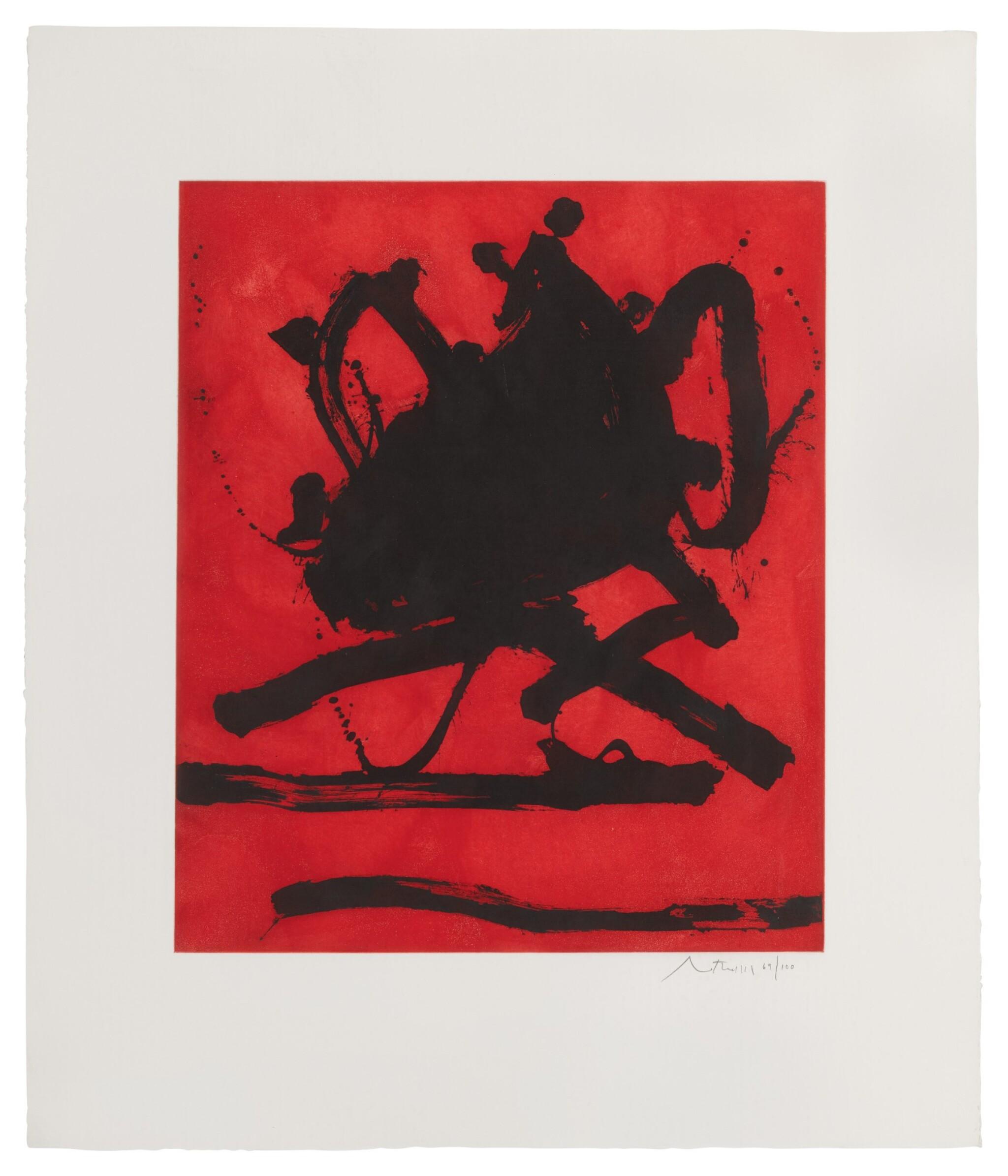 View full screen - View 1 of Lot 80. ROBERT MOTHERWELL   RED SEA II (WALKER ART CENTER 242).