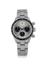 ROLEX | DAYTONA, REF 6240 STAINLESS STEEL CHRONOGRAPH WRISTWATCH WITH BRACELET AND LATER TIFFANY DIAL CIRCA 1966