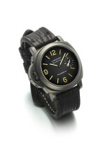 PANERAI   REF PAM00026 LUMINOR MARINA DESTRO, A PVD COATED STAINLESS STEEL CUSHION FORM LEFT HANDED WRISTWATCH CIRCA 1998