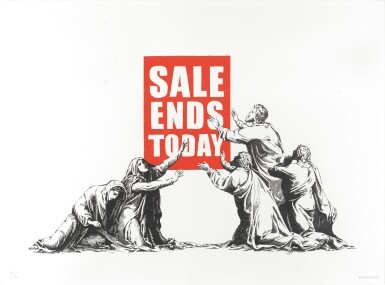 View 1. Thumbnail of Lot 626. Banksy 班克斯 | Sale Ends (V.2) 銷售結束 (V.2).