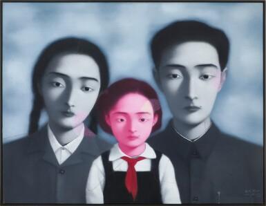 View 2. Thumbnail of Lot 1120. Zhang Xiaogang 張曉剛   Bloodline - The Big Family No. 1 1997 血緣:大家庭1號 1997.