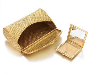 View 3. Thumbnail of Lot 62. Evening bag and compact (Borsetta e portacipria ).