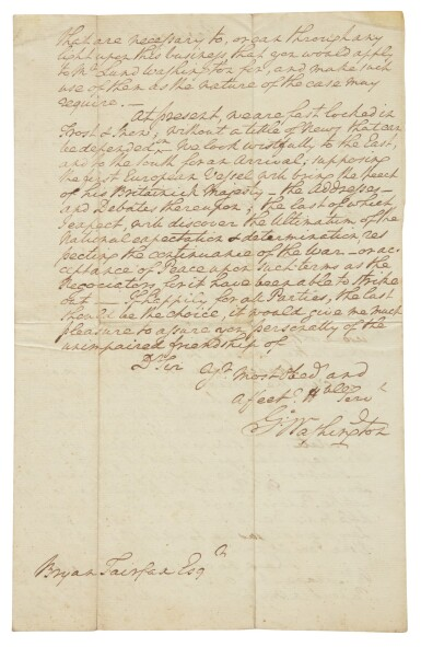 """View 2. Thumbnail of Lot 111. WASHINGTON, GEORGE 