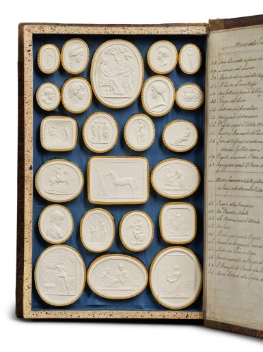 View 8. Thumbnail of Lot 42. A COLLECTION OF GRAND TOUR PLASTER INTAGLIOS BY PIETRO PAOLETTI, ROME, EARLY 19TH CENTURY.