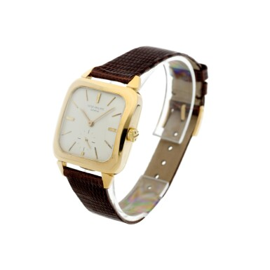 View 2. Thumbnail of Lot 143. REFERENCE 2540 A YELLOW GOLD SQUARE AUTOMATIC WRISTWATCH, MADE IN 1957.