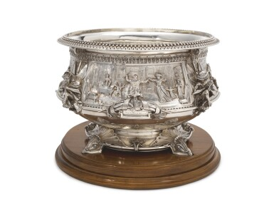 View 2. Thumbnail of Lot 265.  A VICTORIAN SILVER LARGE PUNCH BOWL, JOHN HUNT & ROBERT ROSKELL, LONDON, 1881.