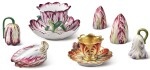 A GROUP OF ENGLISH PORCELAIN TULIP-WARES, EARLY 19TH CENTURY