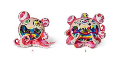 村上隆 Takashi Murakami | MR. DOB/DOBTOPUS A & B(一組兩件) Mr Dob/Dobtopus A & B (set of two)