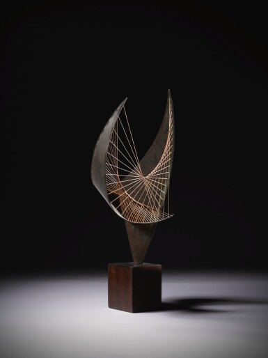 View 2. Thumbnail of Lot 9. DAME BARBARA HEPWORTH  |  ORPHEUS (MAQUETTE I).