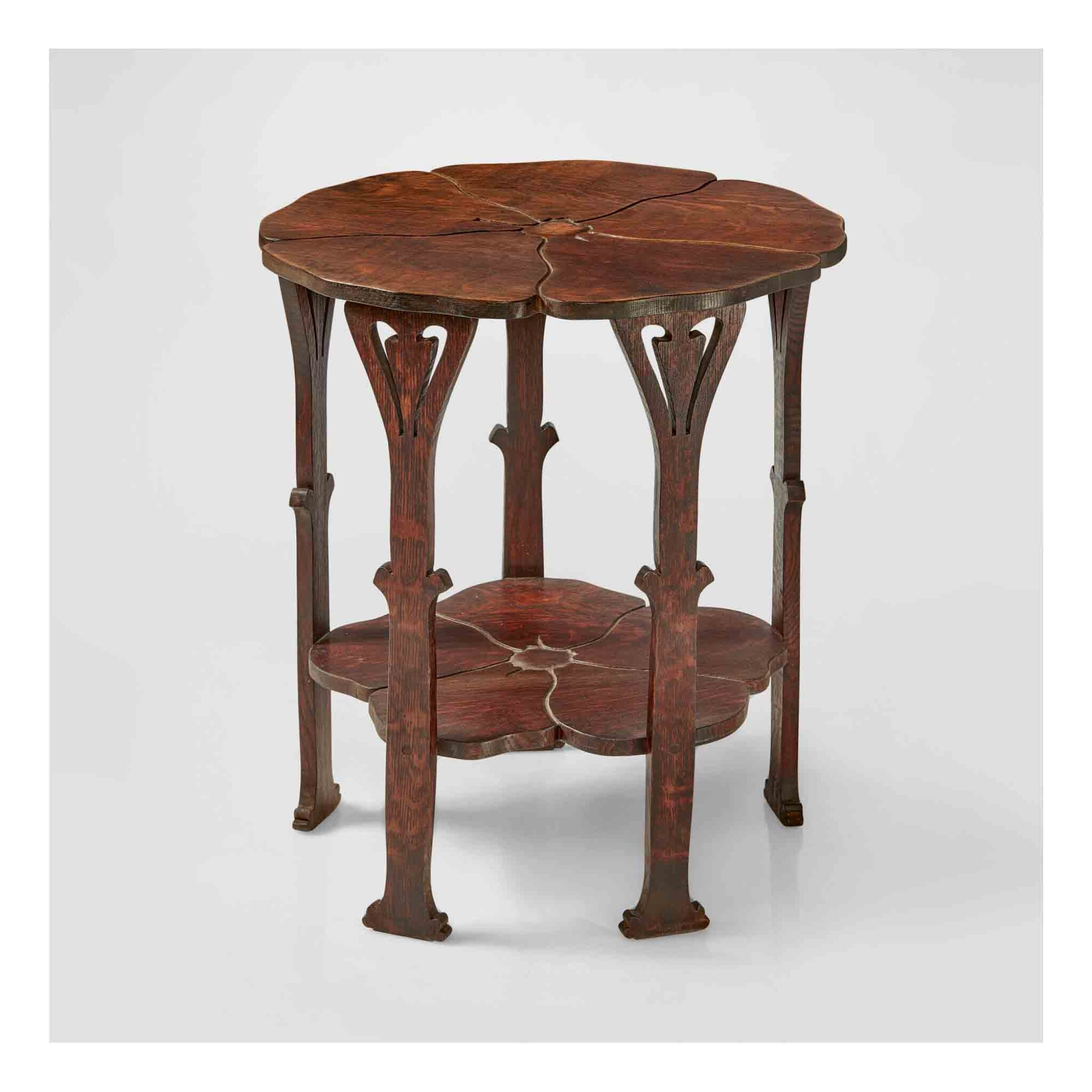 """View 1 of Lot 324. A Rare """"Poppy"""" Table, Model No. 26."""