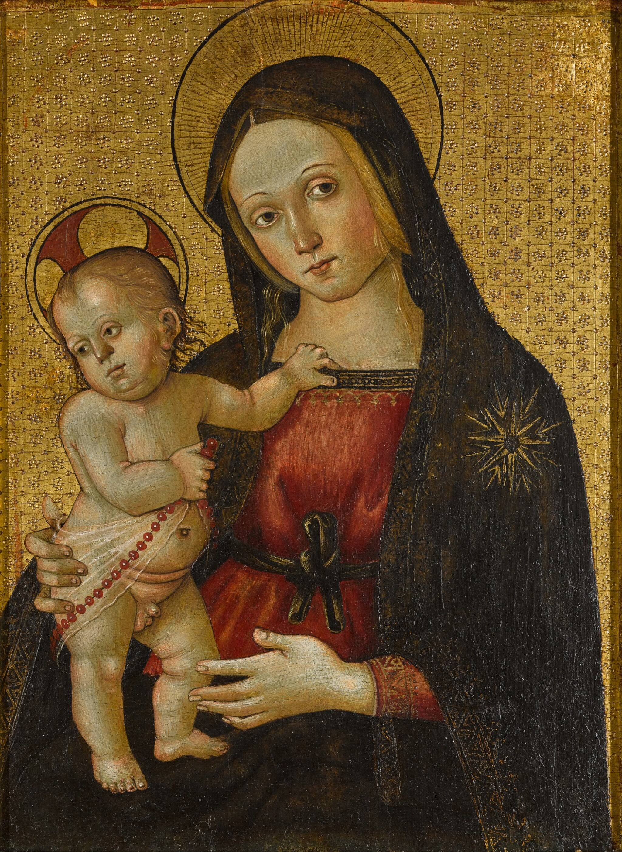 View full screen - View 1 of Lot 24. MASTER OF THE ORTE MADONNA  |  THE VIRGIN AND CHILD.