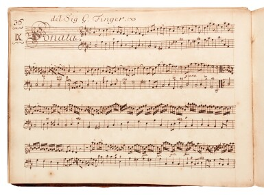 View 3. Thumbnail of Lot 81. H. Purcell. 'The Armstrong-Finch manuscript'. Important early volume of sonatas for violin and for flute, 1691-1720.
