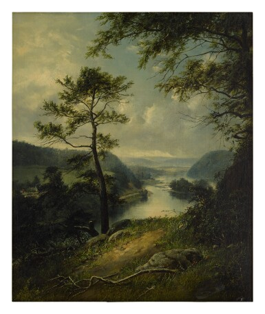 WILLIAM SANFORD MASON | LANDSCAPE WITH RIVER