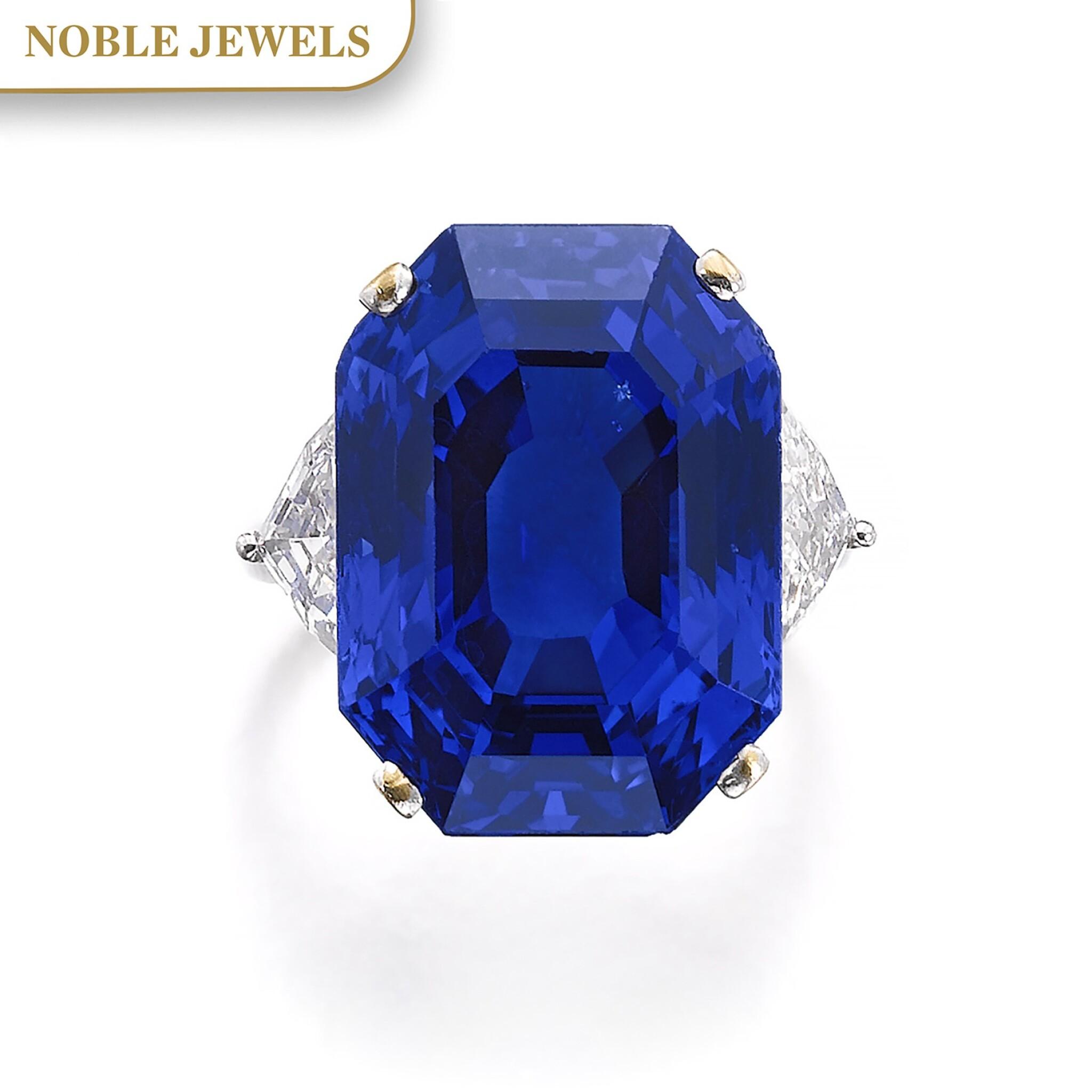 View full screen - View 1 of Lot 169. Bulgari | Important Sapphire and diamond ring | 寶格麗 | 藍寶石配鑽石戒指.