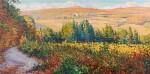 Paysage, effets d'automne à Mandres