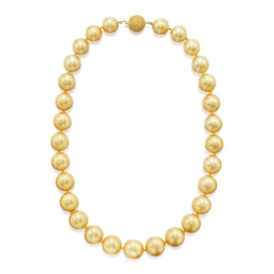 CULTURED PEARL AND YELLOW SAPPHIRE NECKLACE
