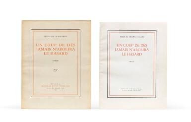 """View 2. Thumbnail of Lot 140. 2 versions du """"Coup de dés"""": édition de la NRF (1914) et édition sur calque (1969)."""