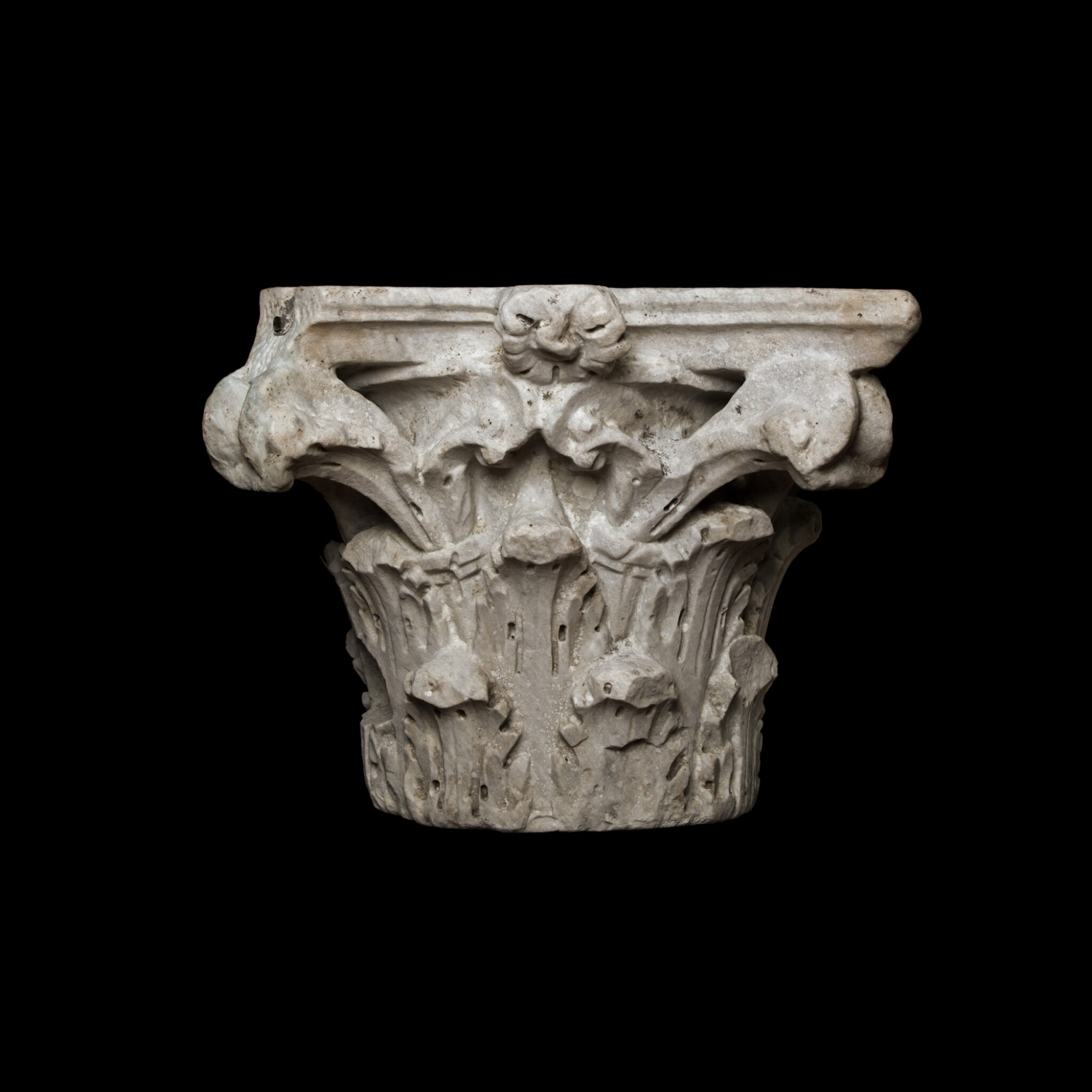 View full screen - View 1 of Lot 82. A Roman Marble Composite Capital, 2nd/3rd Century A.D..