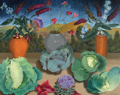 View 1. Thumbnail of Lot 61. SIR CEDRIC MORRIS  |  CABBAGES.