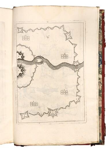 Alimari, Instruttioni militari, Nuremberg, 1692, calf-backed red boards