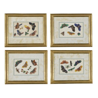 A SET OF EIGHT CHINESE EXPORT PAINTINGS ON PITH PAPER, QING DYNASTY, 19TH CENTURY