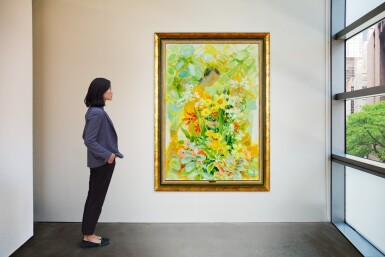 View 4. Thumbnail of Lot 4504. Lady with Flowers | 女子與花.
