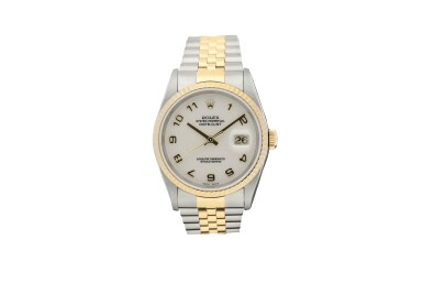 ROLEX | REFERENCE 16233 DATEJUST  A STAINLESS STEEL AND YELLOW GOLD AUTOMATIC WRISTWATCH WITH DATE AND BRACELET, CIRCA 2000