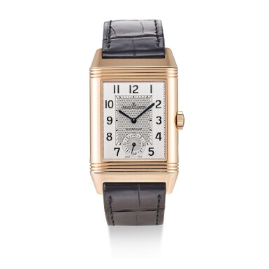 View 1. Thumbnail of Lot 504. JAEGER-LECOULTRE | REVERSO, REFERENCE 215.2.S9 A PINK GOLD DUAL TIME ZONE REVERSIBLE WRISTWATCH, CIRCA 2017.