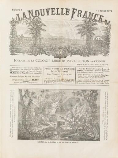Rays Marquis De La Nouvelle France Journal De La Colonie De Port Breton 1879 1885 In 4 Demi Basane Verte Jamais Perdu En Mer Collection Jean Paul Morin Sotheby S