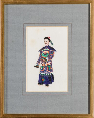 View 7. Thumbnail of Lot 163. A set of fourteen Chinese paintings on silk, Canton, 19th century.