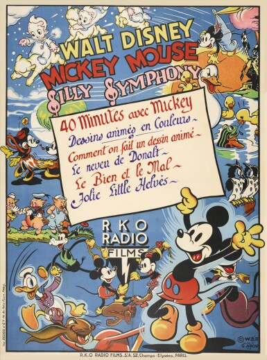 Mickey Mouse Silly Symphony (1938) poster, French