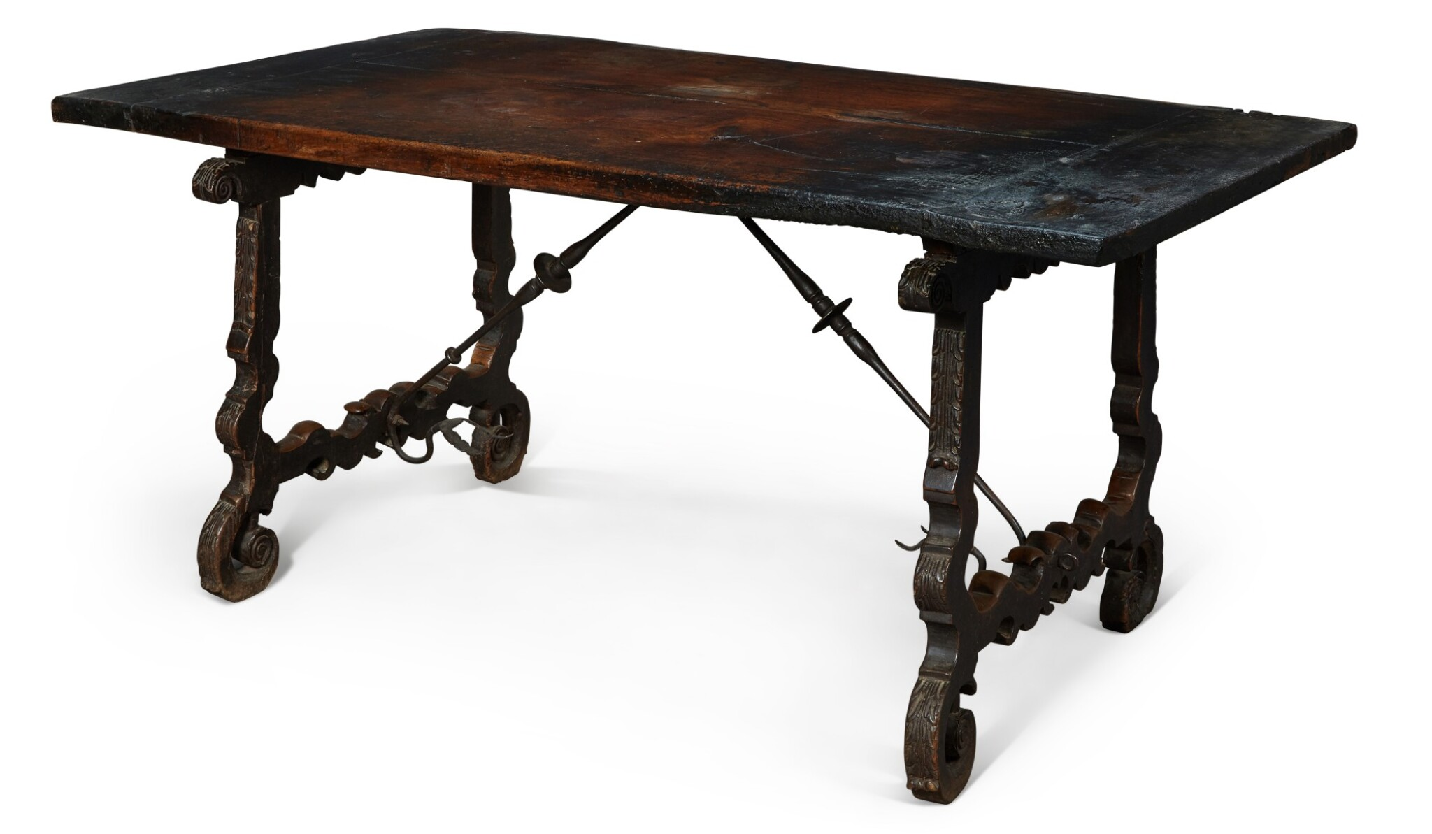 View full screen - View 1 of Lot 139. A SPANISH WALNUT CENTRE TABLE, 17TH CENTURY.