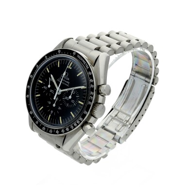 View 2. Thumbnail of Lot 11. OMEGA | SPEEDMASTER 20TH ANNIVERSARY OF APOLLO XI  A LIMITED EDITION STAINLESS STEEL CHRONOGRAPH WRISTWATCH WITH BRACELET, MADE FOR THE USA MARKET, CIRCA 1989.