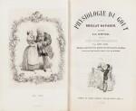 BRILLAT-SAVARIN. Physiologie du goût. 1848. Demi-maroquin orangé. 1er tirage. Illustrations de Bertall.